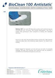 Bioclean 100 ESD Overshoes Product Data Sheet ... - AM Instruments