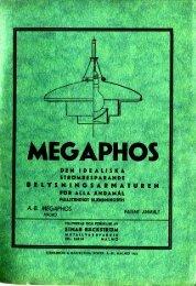 """Page 1 Page 2 Page 3 Page 4 Förord. """"Megaphos'armaturen"""