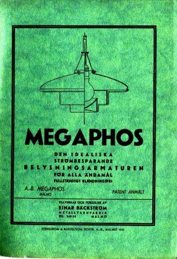 """Page 1 Page 2 Page 3 Page 4 Förord. """"Megaphos'armaturen"""" är ..."""
