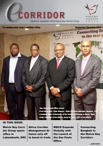 September - December 2013 - Walvis Bay Corridor Group