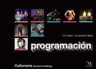 Programa Culturama ultimo trimestre - Diputación de Málaga