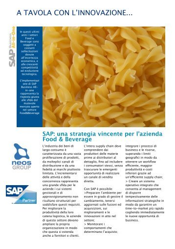 SAP Food&Beverage - SAP ALL-IN-ONE - Neos