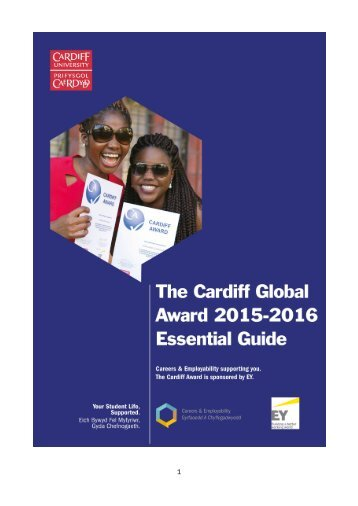 The Cardiff Global Award 2015 - 2016 Essential Guide