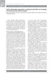 analisi dell'impatto organizzativo e gestionale dell'utilizzo di ... - Ijph.it