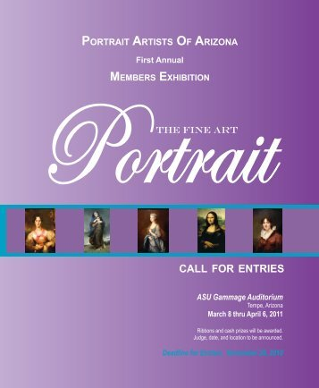 members exhibition call for entries - Portrait Artists of Arizona
