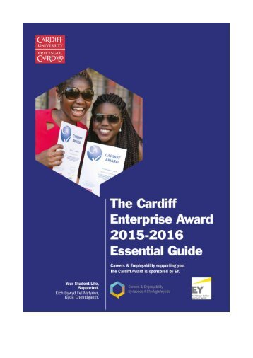 The Cardiff Enterprise Award 2015 - 2016 Essential Guide