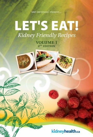 Kidney Friendly Recipes - Kidney Health | Manitoba Renal Program