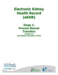 Process Manual: Transfers - Kidney Health