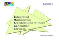 Integrated Multiservice Architectures for next GEneration Services