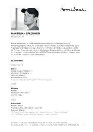 als PDF - Homebase. - Agentur für Drehbuchautoren und Regisseure