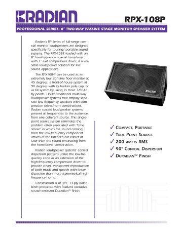 rpx-108p (Page 1) - KOZY STUDIO