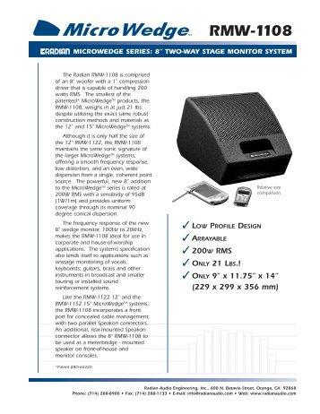 Radian RMW-1108 2 - KOZY STUDIO