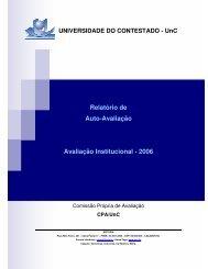 Relatório de Avaliacao Institucional UnC 2006 - Universidade do ...