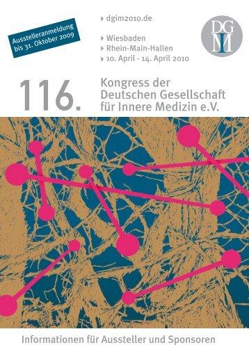 116. Kongress der Deutschen Gesellschaft für ... - Die m:con Welt