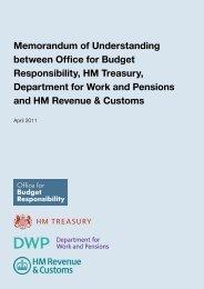 Memorandum of Understanding - Office for Budget Responsibility