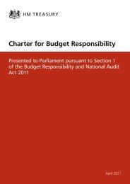 Charter for Budget Responsibility - Gov.UK