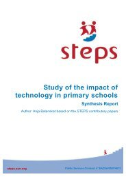 Study of the impact of technology in primary schools Synthesis Report