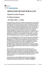DEPLETED URANIUM BULLETS - Fernandotermentini.it