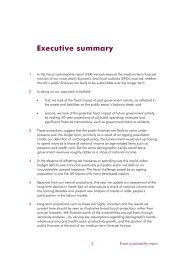 Fiscal sustainability report - independent.gov.uk