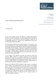 Letter to HM Treasury & Cabinet Office - Office for Budget ...