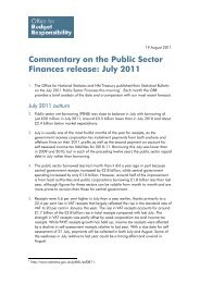 Commentary on the Public Sector Finances release - Office for ...