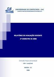 Relatório Geral da Avaliação Docente Mafra/Rio Negrinho ... - UnC