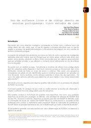 Uso de software livre e de código aberto em escolas portuguesas ...