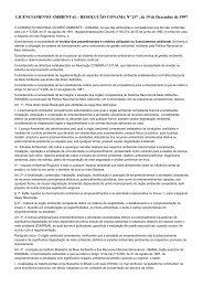 LICENCIAMENTO AMBIENTAL - RESOLUÇÃO CONAMA Nº ... - UnC