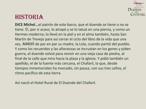 Hotel Rural El Duende del Chafaril. Cáceres.