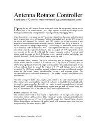 Simple Az-El Antenna Control Control your Antennas with a