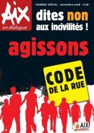 I NUMÉRO SPÉCIAL I novembre 2008 I n°38 I - Aix-en-Provence