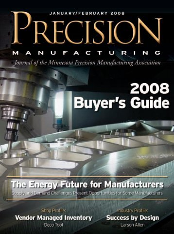 January/February - Minnesota Precision Manufacturing Association