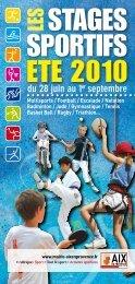 StageS SportifS ete 2010 - Aix-en-Provence