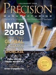 July / August - Minnesota Precision Manufacturing Association