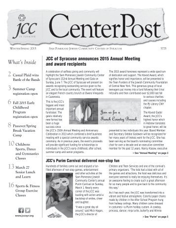 2015 Winter/Spring CenterPost