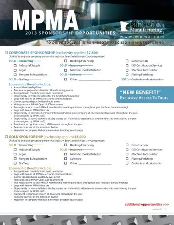 """NEW BENEFIT!"" - Minnesota Precision Manufacturing Association"