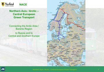 NACE Northern Axis / Arctic – Central European Green Transport