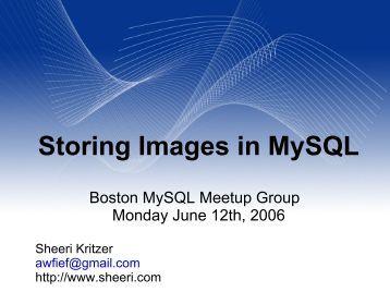 Storing Images in MySQL