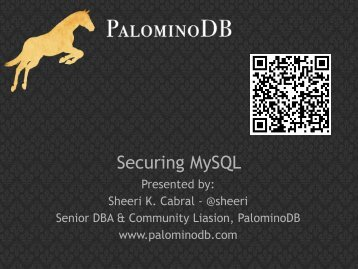 View slides - PalominoDB