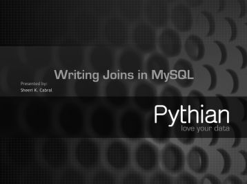 Writing Joins in MySQL
