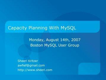 Capacity Planning With MySQL