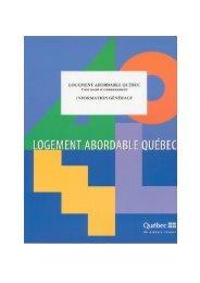 Logement abordable Québec : volet social et communautaire ...