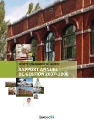 Rapport annuel de gestion 2007-2008 - Société d'habitation du ...