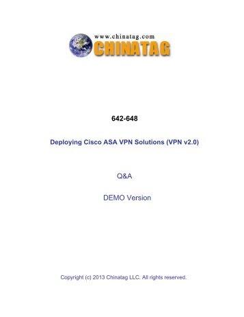642-648 Q&A DEMO Version - Chinatag.com