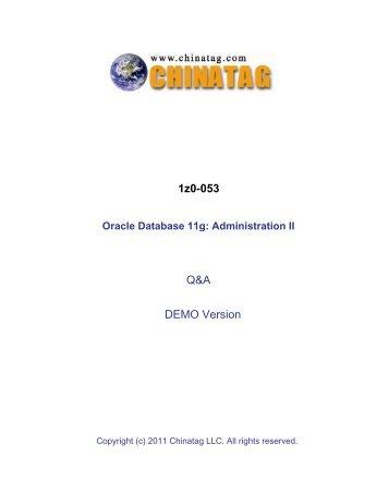 1z0-053 Q&A DEMO Version - Chinatag.com