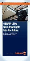 OSRAM LEDs take downlights into the future