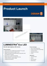 Product Launch LUMINESTRA ® Eco LED - Osram