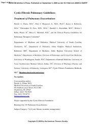 Cystic Fibrosis Pulmonary Guidelines: Treatment of Pulmonary ...