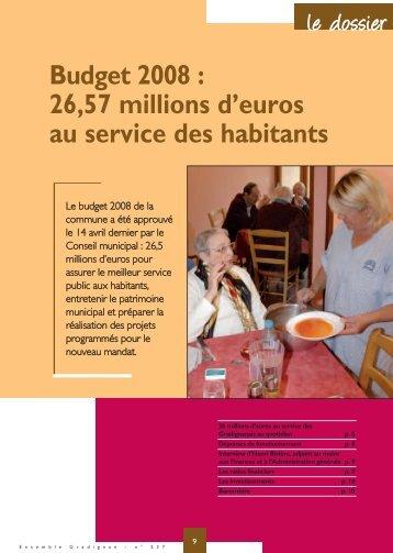 Dossier Budget 2008 - Gradignan