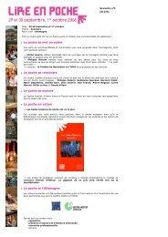 Newsletter n°2 - été 2006 - LIRE EN POCHE 2006 - Gradignan
